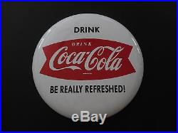 16 Inch Coca Cola Button Sign Be Really Refreshed Mint Condition
