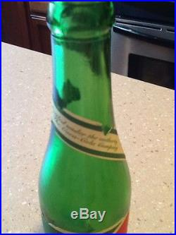 1916 Green Coca Cola Bottle With Paper Label
