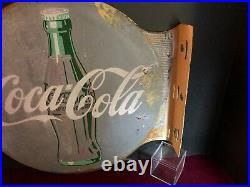 1930's COCA-COLA Flange outside store Sign Double Sided Original