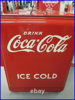 1930's COCA-COLA Standard Ice Cooler Refurbished and Repainted 2010s