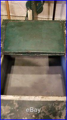 1930s Coca-Cola Moss Ice Box Cooler, similar to Glascock. Christmas Coke signs