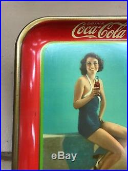 1933 Original Coca Cola Serving Tray