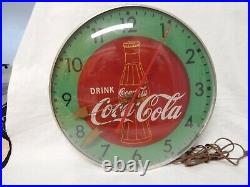 1950's Coca Cola Lighted Advertising Clock Pam Clock Co, Inc. New Rochelle, N. Y