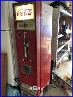1960 Cavalier Coca Cola Vending Machine works with renovated cooling system