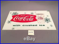 1963 Vintage Things Go Better With Coke Enjoy Coca Cola w Ice light sign CC5