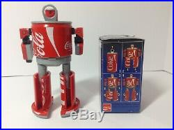 1980's Coca Cola Can Coke TRANSFORMER Toy Robot Figure with Box Japan New