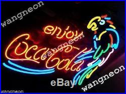 19X15 Enjoy Coka Cola Soda Drink PARROT Beer Bar Neon Light Sign FREE SHIPING