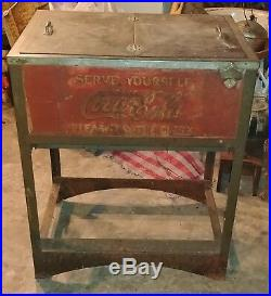 Antique Coca-Cola Glascock Cooler circ. 1929 Very Hard to Find! Still works