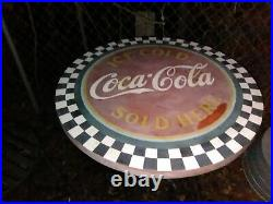Antique coca cola table and chairs