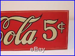 Authentic 1920's Antique Drink Coca Cola In Bottles Sign
