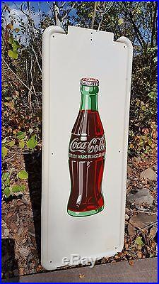 Authentic 1940's Coca Cola Metal and Porcelain sign- Great condition, No reserve