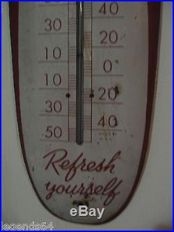 Authentic Coca Cola Coke Cigar Thermometer Vintage Sign Of Good Taste