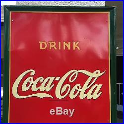 COCA COLA Large Metal Sign 1941 Vintage Advertising Sign Amazing! 54 x 19 in
