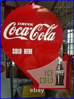 Coca Cola 1930s 40s Hanging Or Flange Advertising Sign