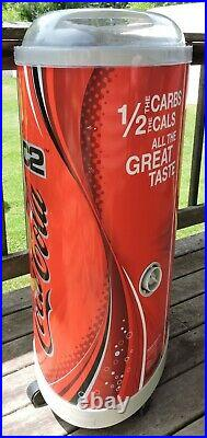 Coca Cola C2 Rolling Store Display The Iceman Cooler 39 Tall 2004 Paul Flum