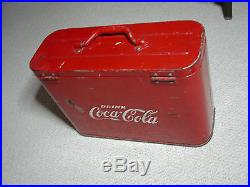 Coca-Cola Cavalier Carry Cooler Nice Original Condition Embossed Letters