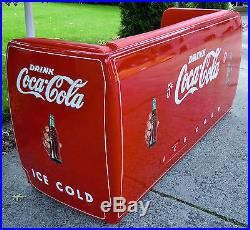 Coca Cola Cooler Couch Collectible Man cave Antique Furniture