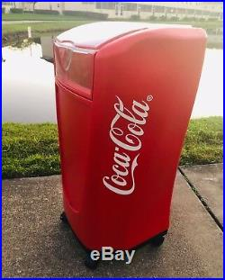 Coca Cola Cooler Ice Chest On Wheels Clear Lid
