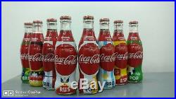Coca-Cola Egypt World cup Russia 2018 Empty Glass Bottles full set limited