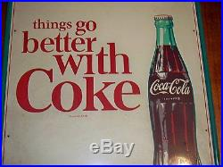 Coca Cola Porcelain Advertising Sign Things go better with Coke
