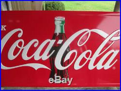 Coca-Cola Red Horizontal Drink Coca-Cola Sign 24 x 60 inches Contour Bottle Logo