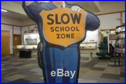 Coca Cola Slow School Zone Police Man Aprox 5ft 4 stand up (Metal)