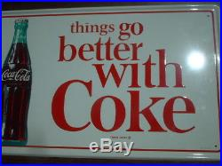 Coca Cola Things Go Better With Coke. Metal Tin Sign