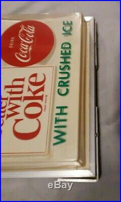 Coca Cola Things Go Better With Coke Vintage 60's Light Up Sign Works