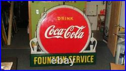 Coca Cola porcelain sign, RARE, 1930's excellent condition see my other neon signs
