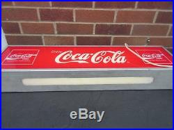 Coca-cola Coke Hanging Light-up Electric Neon Shop Advertising Sign 31 Vtg