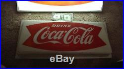Cocal cola 1950s fishtail light up sign