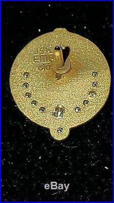 EXTREMELY RARE Coca-Cola 55-Year Service Pin-Tie Tack 14k Gold 11 Diamonds J54