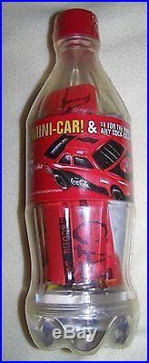 Extremely Rare Sealed Coca-cola Bank Bottle With Nascar Mini-car