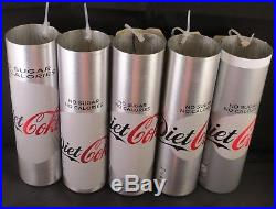 HTF 5 different Test/Protoype Diet Coca-Cola Unfinished Bottles Aluminum UK 2016