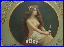Here It Is, Its The 1905/07 Topless Coca Cola Advertising Tray Controversial