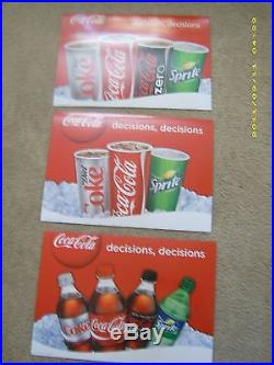 L@@K Huge New Coca-Cola 6ft Menu Board Sign with6 sets of letters & numbers