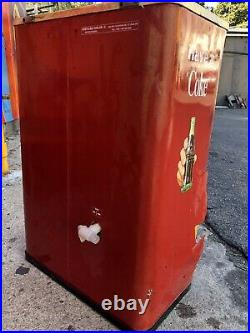 Large Vintage Coca Cola Cooler Ice Chest Coke Machine Store Display
