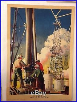 Lot Of 5 1943 Coca-Cola Our America Oil Posters NC Wyeth WW2 Art Deco RARE