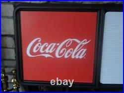 New! 3ft Coca-Cola Menu Board Sign with3 sets of Coke Letters, Numbers & Symbols