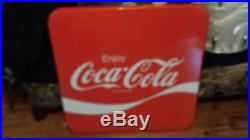 New Coca Cola, Vintage Metal Folding Table & 4 chairs