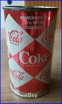 Nice Coca Cola can from uk. Flat top small diamond. Very Clean. Hard to find