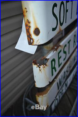 ODrink Coca Cola Porcelain Button Sign Truck stop Campground Coke Soda Pop