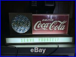 ORIGINAL Early Coca Cola MOTION PAUSE Countertop Sign