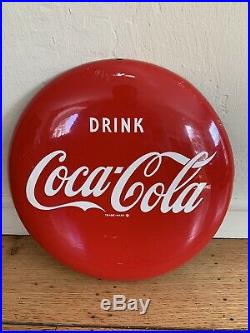 Original Coca Cola 12 Inch Button Sign