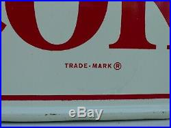 Original Vintage (1963) COCA-COLA Embossed Sign- Things Go Better With Coke