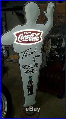 Policeman Sign-coca Cola-officer Friendly