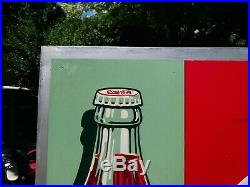 RARE 1937 Coca Cola Sign with the 1923 Christmas Coke Bottle