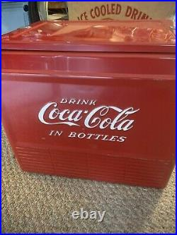 RARE 1950s Drink Coca-Cola In Bottles Coke Cooler Model A56 GREAT CONDITION