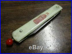 RARE Remington Pull Ball Single Blade Coca Cola pocket knife