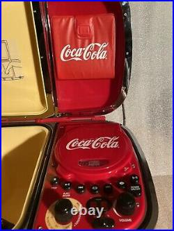 RARE! VINTAGE COCA COLA COOLER ICE BOX With RADIO / CD PLAYER FREE BUFFET CD INCL